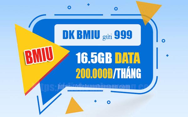 Đăng ký gói BMIU Mobifone ưu đãi 16.5GB Data/tháng