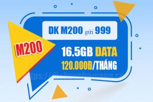 Đăng ký gói M200 Mobifone có 16.5GB Data/tháng