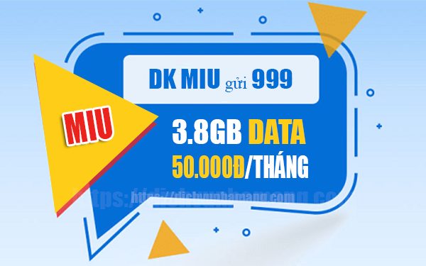 Đăng ký gói MIU sinh viên Mobifone có 3.8GB chỉ 50k/tháng
