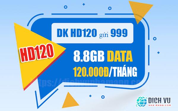 Đăng ký gói HD120 Mobifone có 8.8GB Data/tháng