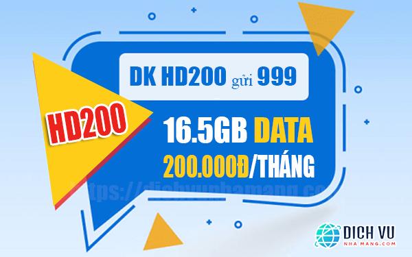 Đăng ký gói HD200 Mobifone nhận 16.5GB Data / tháng
