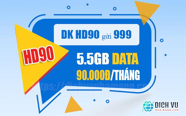 Đăng ký gói HD90 Mobifone nhận ưu đãi 5.5GB/tháng