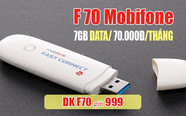 Đăng ký gói F70 Mobifone có ngay 7GB cho thuê bao Fast Connect