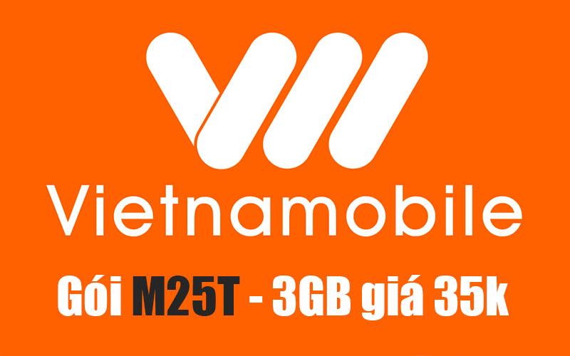 Gói M25T Vietnamobile - 3GB Data trọn gói chỉ 35k/ tháng