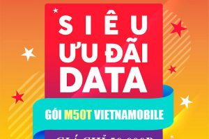Gói M50T Vietnamobile - 10GB/ ngày + Miễn phí nội mạng chỉ 50k/ tháng