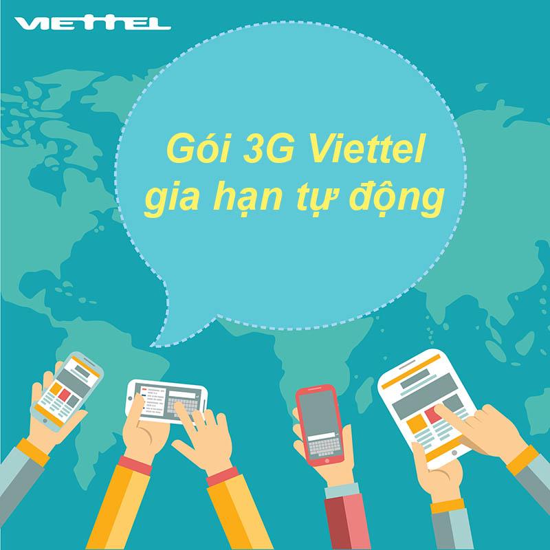 Gia hạn 3G Viettel tự động dễ dàng khi nạp đủ tiền vào tài khoản