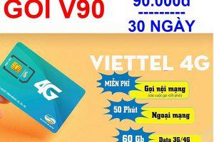 Gói V90 Viettel dành cho thuệ bao nào?