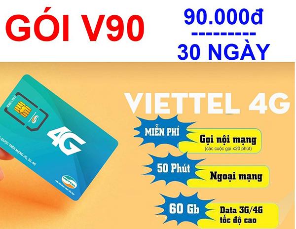 Gói cước V90 của Viettel áp dụng cho thuê bao nào sử dụng?