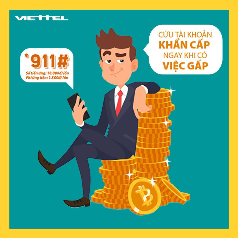 Cách ứng tiền Viettel dễ dàng qua 911