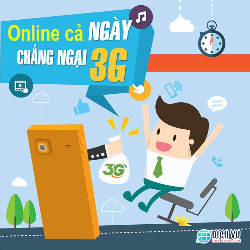 Gói 3G Viettel 1 ngày cho di động