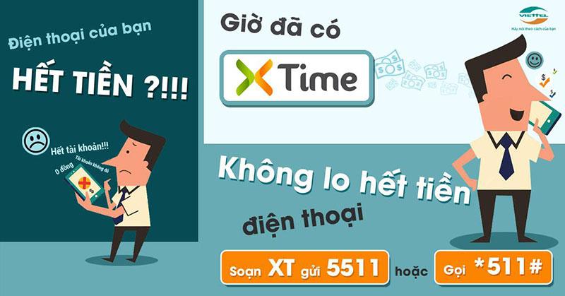 Ứng tiền Viettel nhanh chóng qua Xtime 511