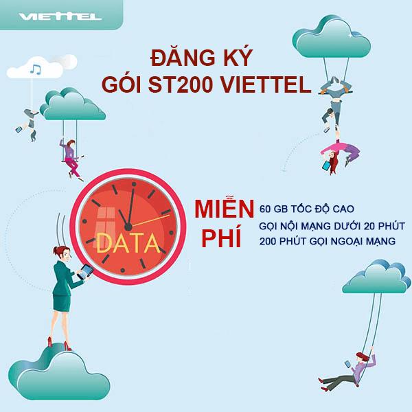 Đăng ký gói ST200 Viettel nhận ưu đãi bất ngờ