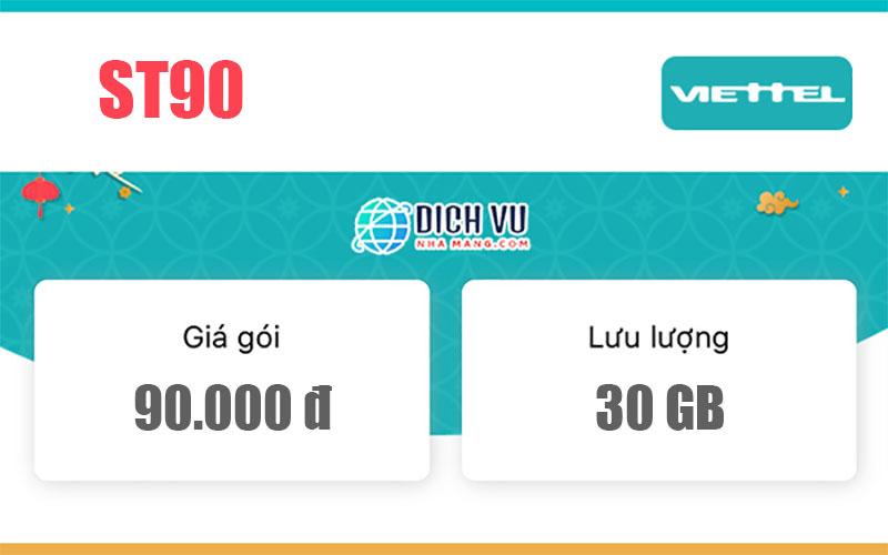 Gói cước ST90 Viettel - Ưu đãi 30GB Data và Lướt TikTok thả ga