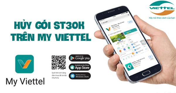 Hủy gói cước ST30K Viettel trên ứng dụng My Viettel
