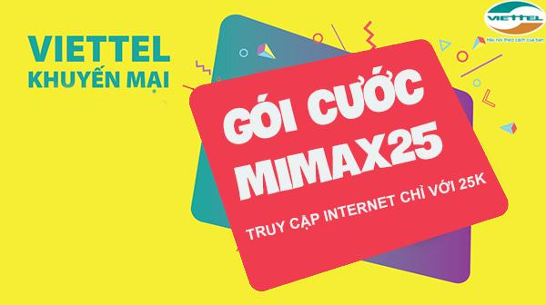 Đăng ký 4G MIMAX25 Viettel 25k/ tháng