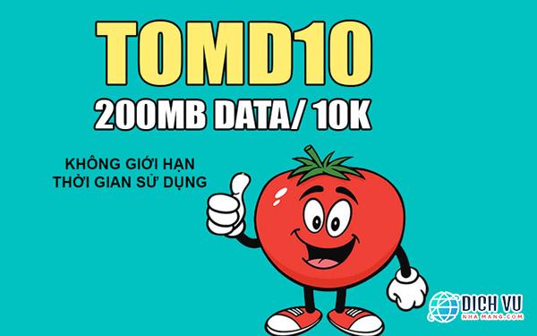 Đăng ký gói TOMD10 Viettel xài 4G không bị giới hạn thời gian