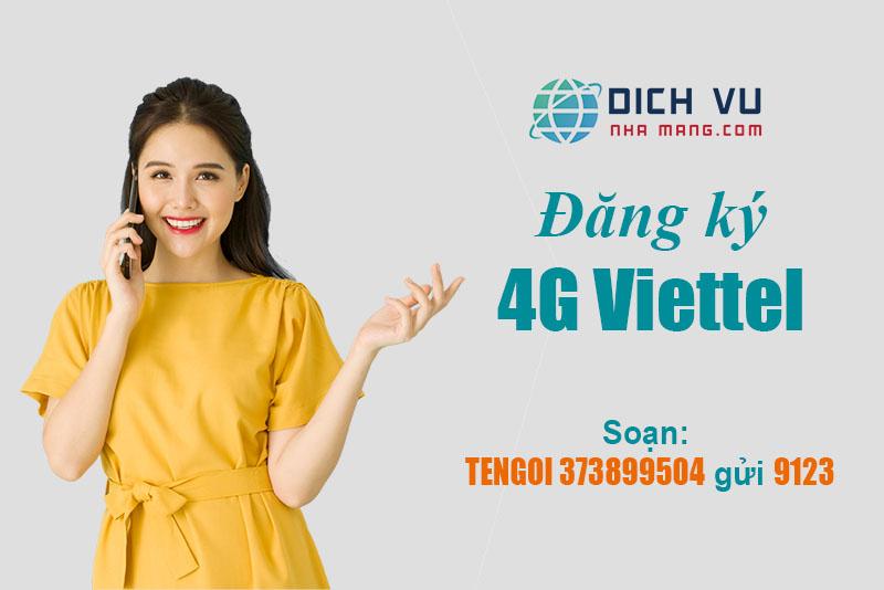 Cách đăng ký 4G Viettel bằng tin nhắn