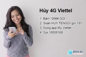 4 cách hủy 4G Viettel không tốn tiền