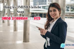 Đăng ký gói 3MI5D Viettel có 500MB ngày x 3 ngày