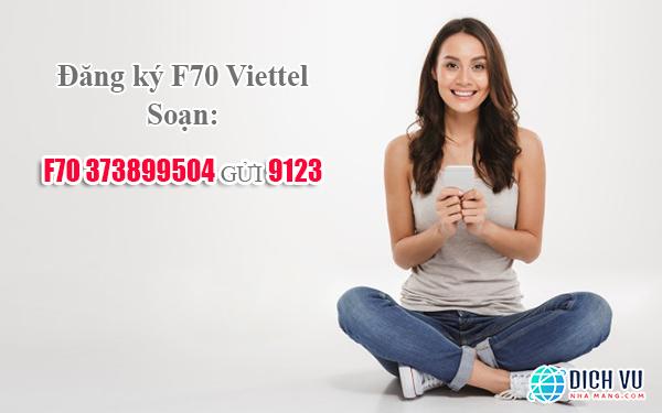 Đăng ký combo F70 Viettel thật dễ dàng bằng tin nhắn