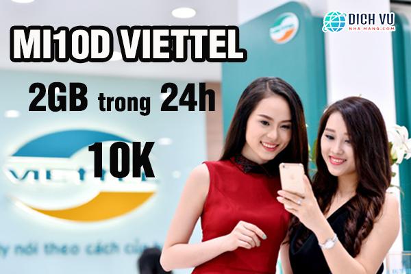 Đăng ký MI10D Viettel nhận ngay 2GB Data lên mạng thả ga