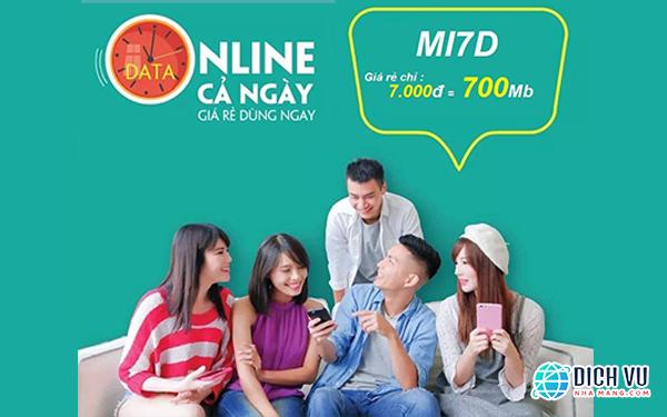 Đăng ký gói Mi7D Viettel online giá rẻ cả ngày