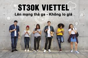 Đăng ký ST30K Viettel lướt web thả ga không lo giá