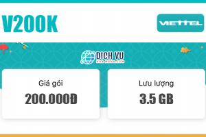 Đăng ký gói V200K Viettel có ngay 1000 phút nội mạng & 3.5GB Data