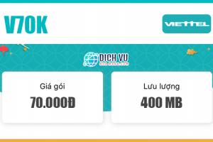 Đăng ký V70K Viettel có ngay 250 phút nội mạng & 400MB