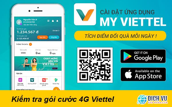 Kiểm tra gói cước 4G Viettel bằng app My Viettel