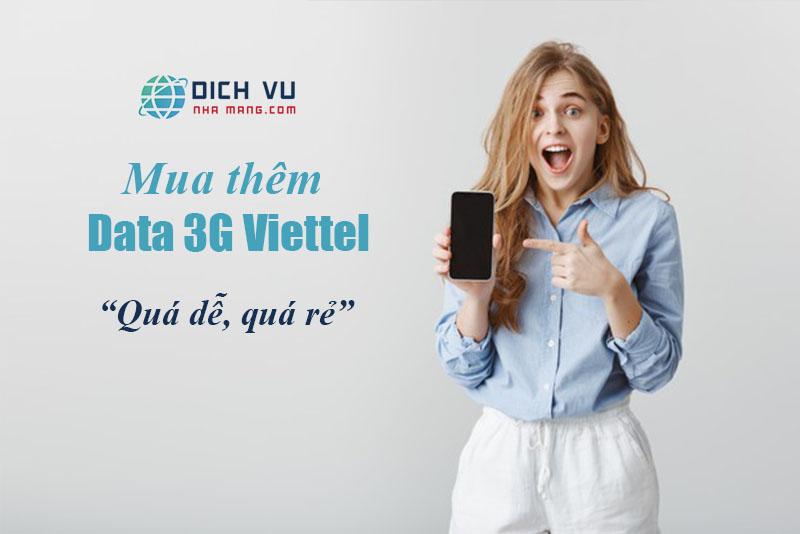 Mua thêm dung lượng 3G Viettel dễ dàng