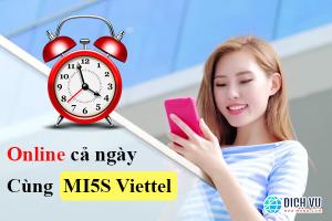 Online cả ngày cùng gói Mi5S Viettel chỉ 5.000đ