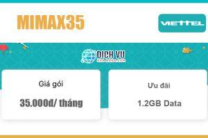 Gói Mimax35 Viettel - Không giới hạn Data chỉ với 35k/ tháng