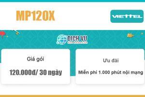 Gói MP120X Viettel - Miễn phí 1.000 phút nội mạng giá 120k/ tháng