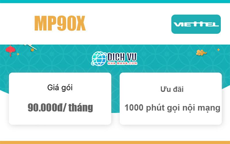 Gói MP90X Viettel - Thả ga gọi thoại với 1000 phút chỉ 90k/ tháng