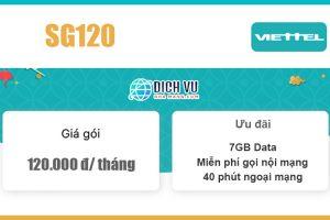 Gói SG120 Viettel - 7GB + Miễn phí gọi thoại giá 120k/ tháng
