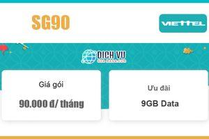 Gói SG90 Viettel - Ưu đãi trọn gói cùng 9GB giá 90k/ tháng