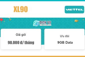 Gói XL90 Viettel - Ưu đãi khủng 9GB Data giá 90k/ tháng