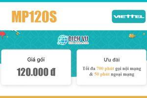 Gói MP120S Viettel – 700 phút nội mạng, 50 phút ngoại mạng 120k/tháng
