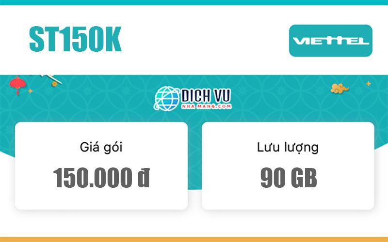 Gói ST150K Viettel – Ưu đãi 90GB Data mỗi tháng chỉ 150.000đ