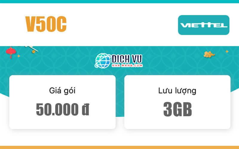 Gói V50C Viettel - Ưu đãi 2GB Data và gọi nội mạng miễn phí