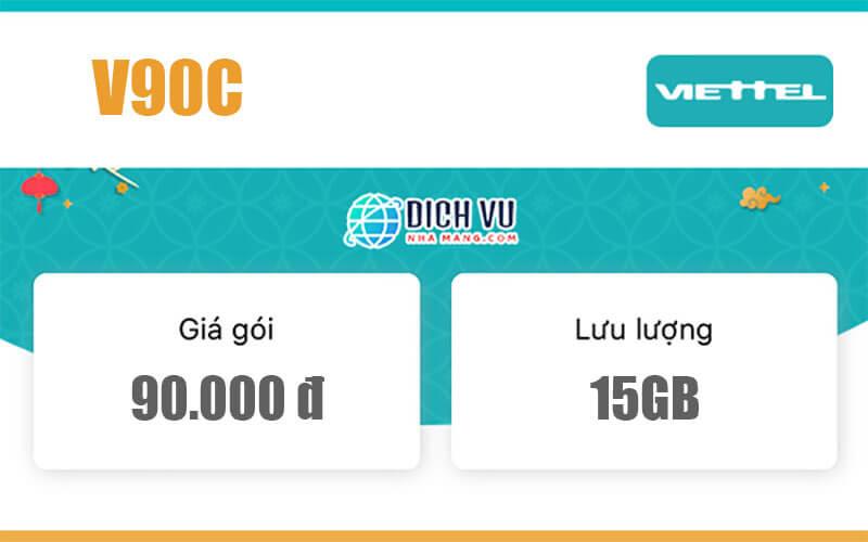 Gói V90C Viettel – Ưu đãi 15GB Data và gọi nội mạng miễn phí
