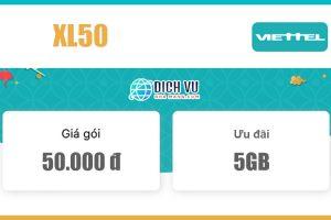Gói XL50 Viettel – Miễn phí 5GB Data tốc độ cao giá 50k/tháng