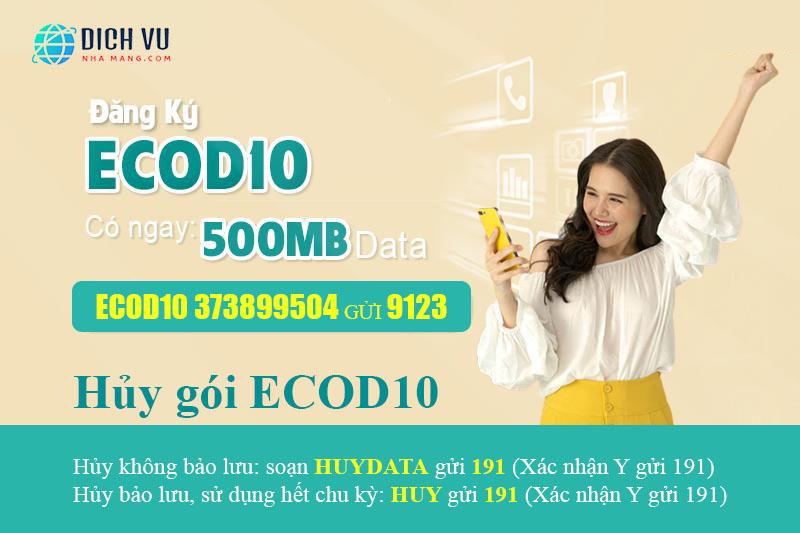 Cách hủy gói ECOD10 Viettel bằng tin nhắn