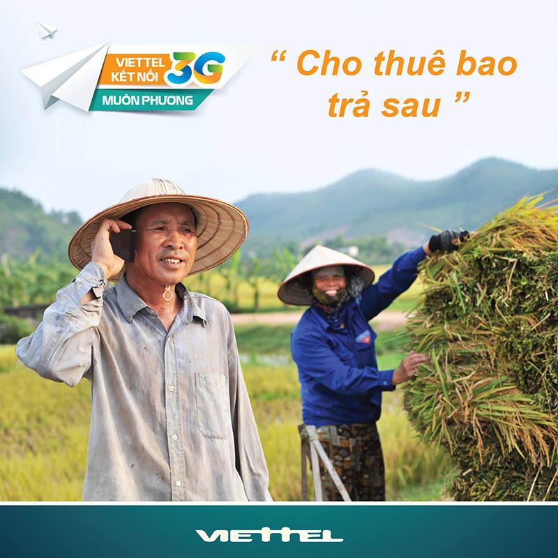 Đăng ký 3G Viettel trả sau kết nối internet muôn nơi
