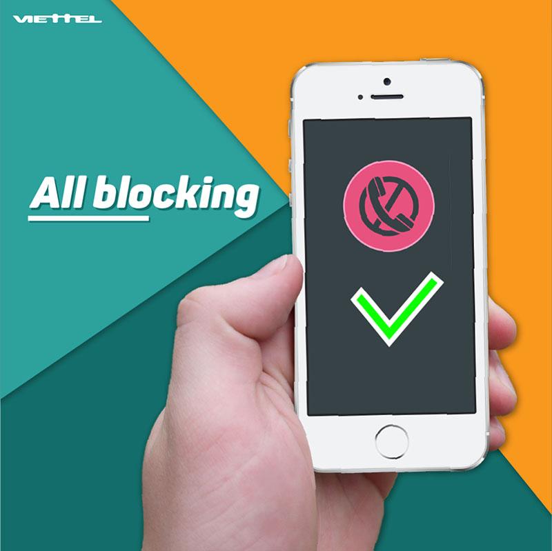 Dịch vụ chặn cuộc gọi và tin nhắn Viettel - All Blocking