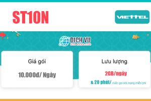 Gói ST10N Viettel – Miễn phí 2GB/ngày, Gọi nội mạng tối đa 1000 phút
