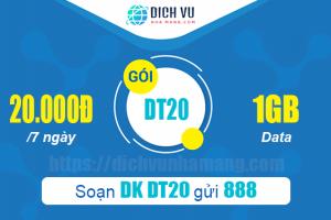 Đăng ký gói DT20 Vinaphone 1GB 7 tháng
