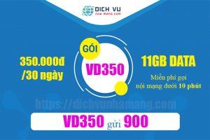 Gói VD350 Vinaphone - Miễn phí gọi thoại, nhắn tin + 11GB dùng 30 ngày